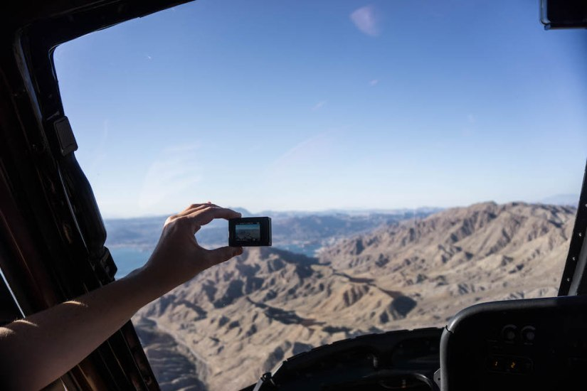 A snap from our Grand Canyon helicopter tour from Vegas