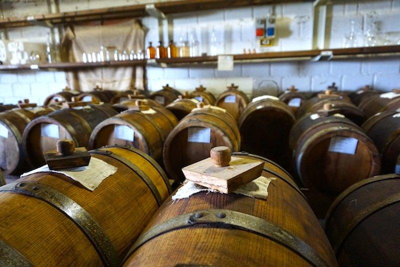 balsamic vinegar aging in barrels