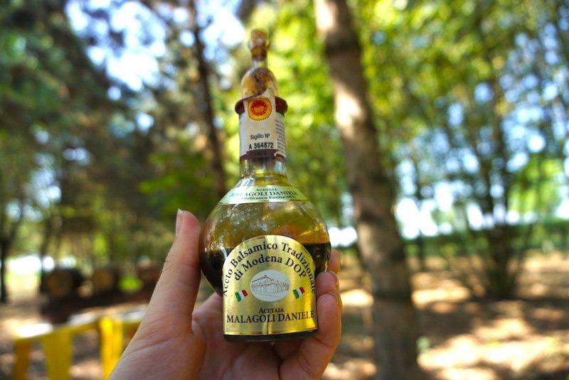 balsamic vinegar in my hand