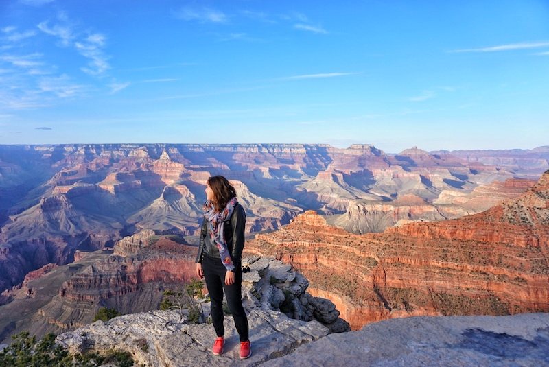Allison at the South Rim of the Grand Canyon in 2017