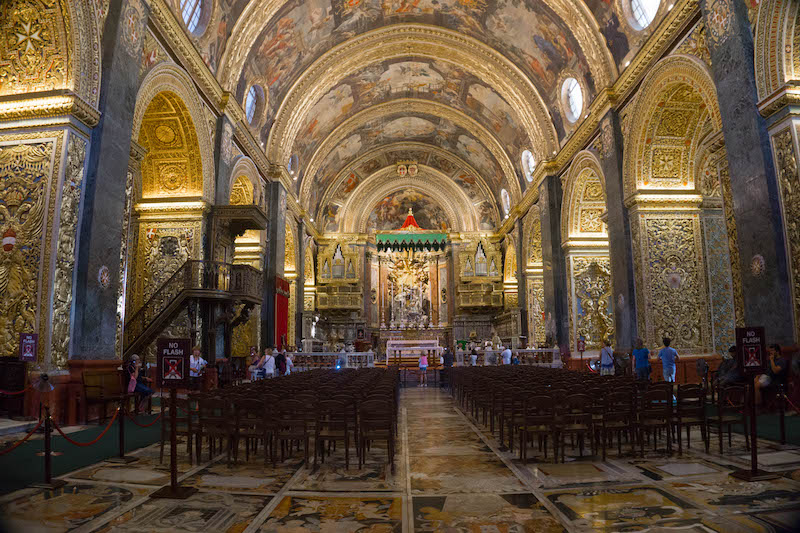 Unique places to visit in Malta include this beautiful church