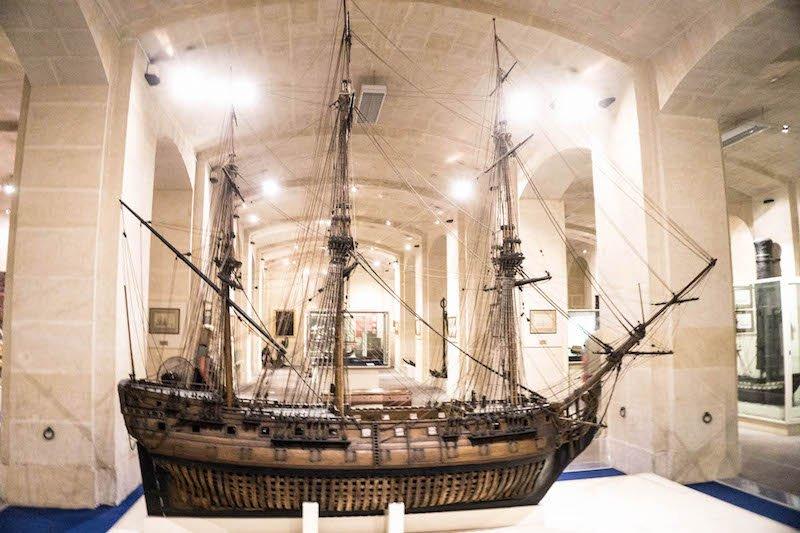 A model ship in the maritime museum in birgu
