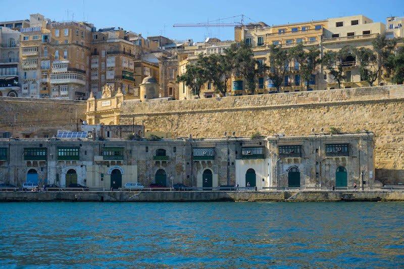 Arriving at the doors of Malta's grand harbor in Valletta