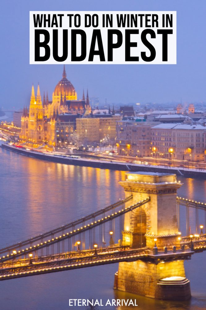 Want to know the best things to do in Budapest in winter? This winter in Budapest travel guide includes popular places to visit in Budapest like the baths, but also includes delicious restaurants, fantastic shopping spots for Budapest souvenirs, Christmas Markets, packing tips, and snow-covered castles!