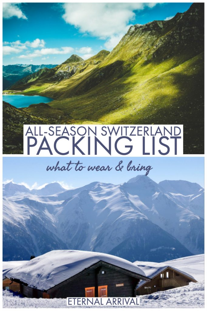 Wondering what to wear in Switzerland in winter or summer? Or maybe fall or spring? This guide to how to dress in Switzerland covers all your Switzerland packing list questions and includes what I recommend you bring to Switzerland (and what to leave behind)