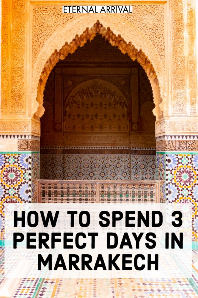 Going to visit Marrakech, Morocco? This simple Marrakech itinerary includes all the best things to do in Marrakech, from beautiful photography & Instagram spots to tips on restaurants and food, hammams, palaces, mosques, markets & souks, medina, and more. Including Marrakech travel tips like what to wear in Marrakech, where to stay in Marrakech (hint: a riad!), Marrakech shopping tips, and more. This is all you need for a weekend in Marrakech, a Marrakech city break, or 3 days in Marrakech!