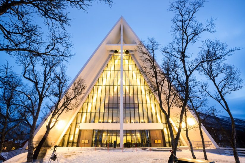 The arctic cathedral near Tromso