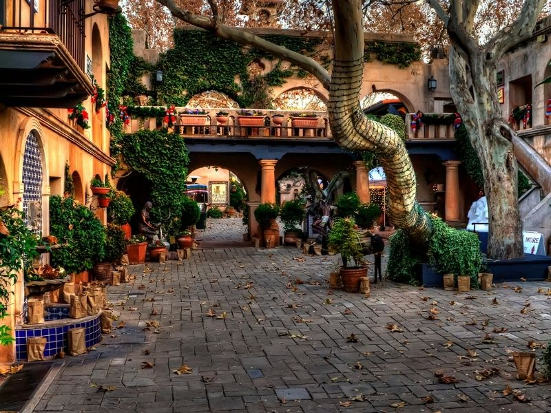 adobe and mosaic masonry of the tlaquepaque arts and shopping center