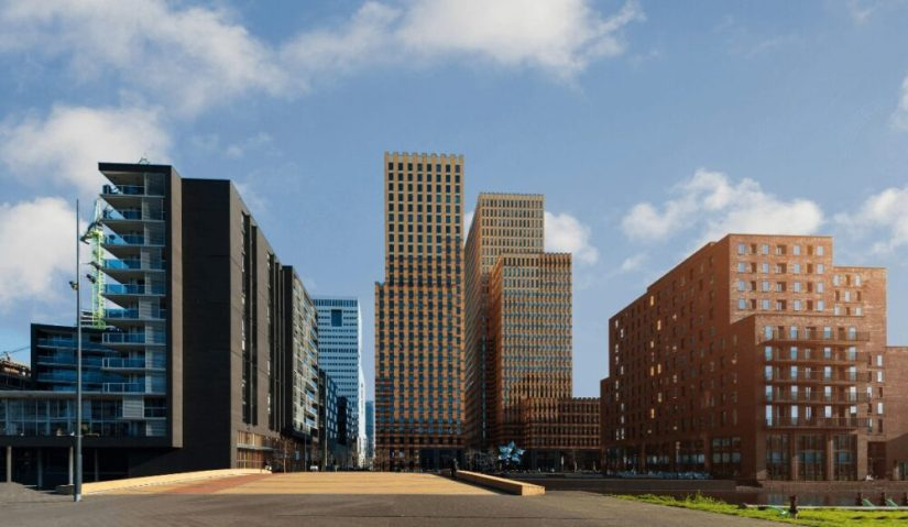 View of the buildings of the residential neighborhood of Amsterdam Zuid.
