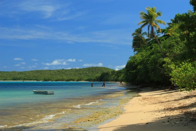 The beautiful blue waters and fine sands of the beaches in Fajardo Puerto Rico