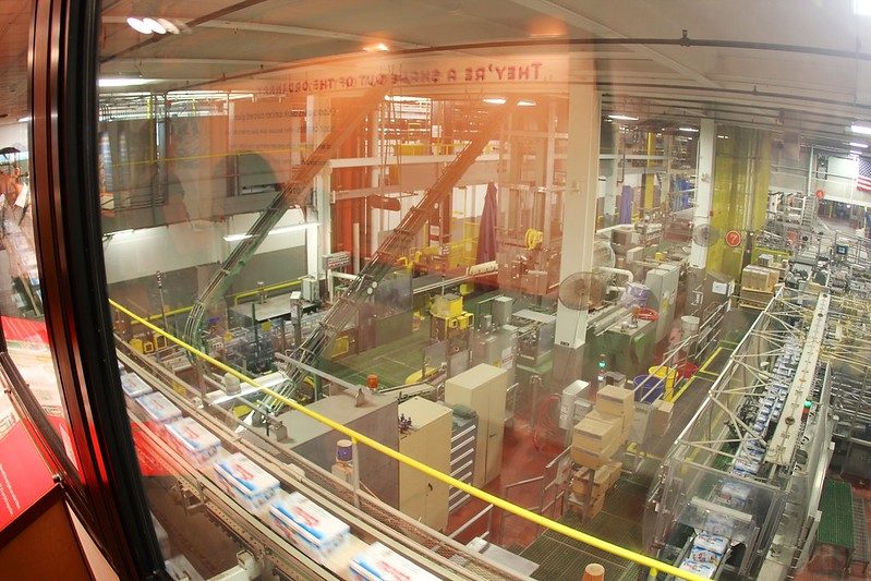 The interior of the Coors factory, a brewery in Golden CO that is a popular day trip from Denver