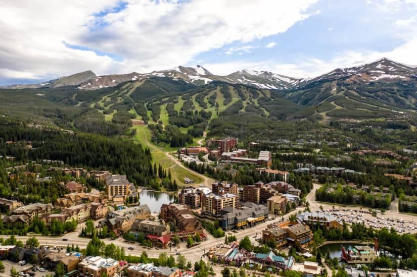 The mountains around the resort town of Breckenridge Colorado