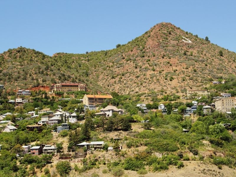 Abandoned mountain town of Jerome, a mining boom town in Arizona