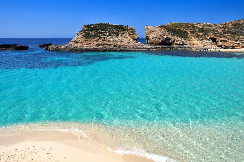 Pure crystal water of Blue Lagoon on Malta