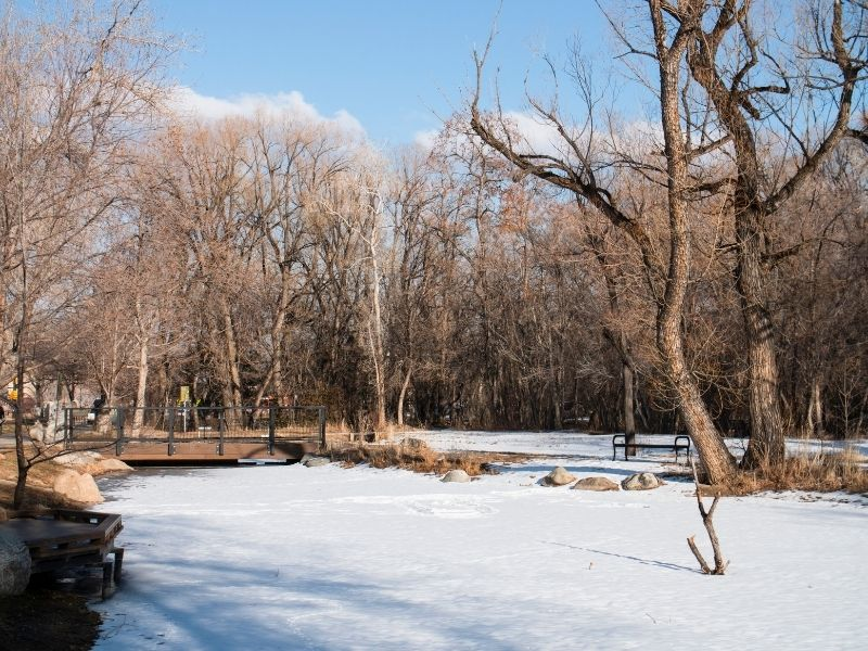 the landscapes around boulder creek in winter: a great place for a winter walk