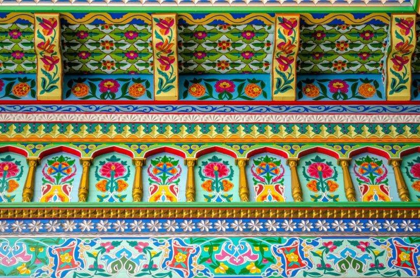 detail at the tajik style tea house at boulder dushanbe tea house