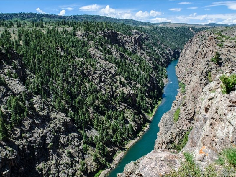 Water going through Black Canyon of the Gunnison