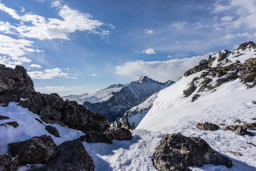 View of Longs Peak in Rocky Mountain National Park, Colorado