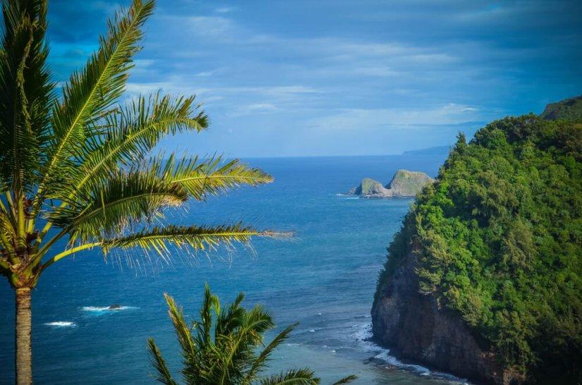 Polulu Valley remote sea cliffs Hawaii Big island