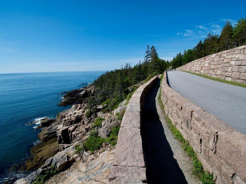 road in acadia national park