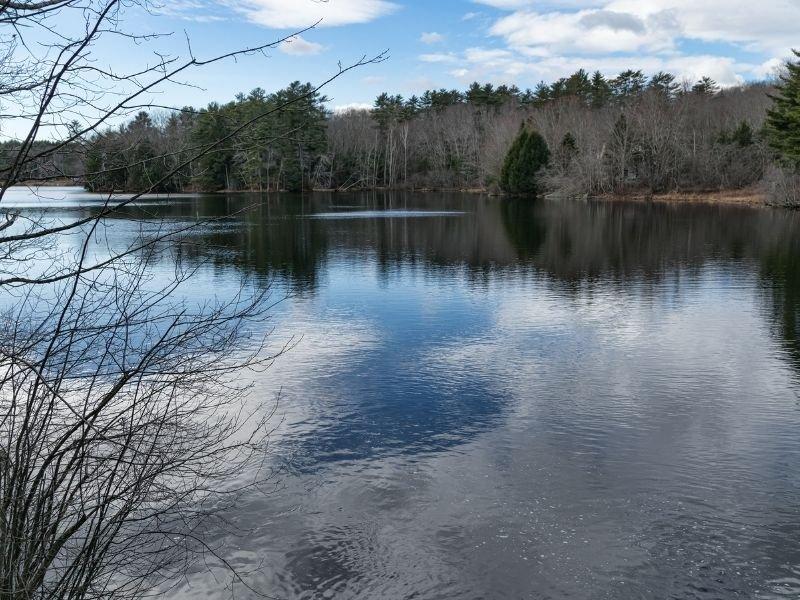 the beautiful calm waters of megunticook lake
