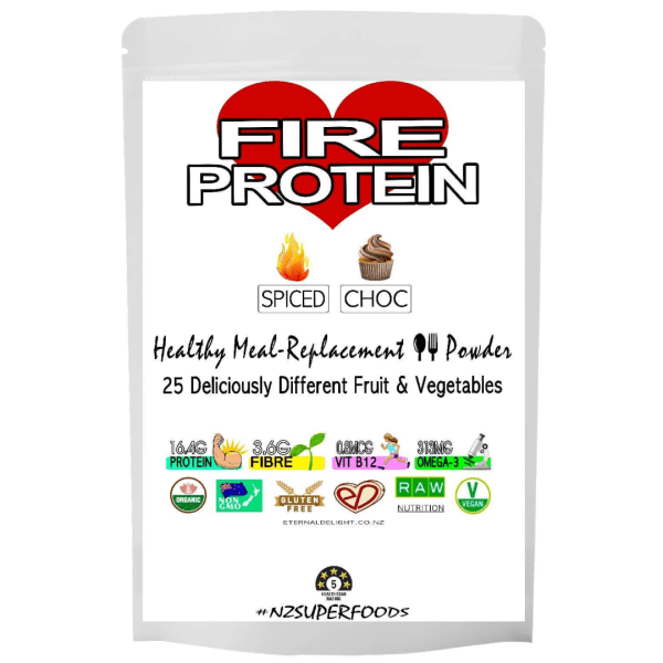 Organic Health Shop. Olympian Fire Protein Powder. Plant-Based Meal-Replacement. High Energy Superfoods. Muscle Pump. Weight Goals. NZ Vegan Whole-Food.