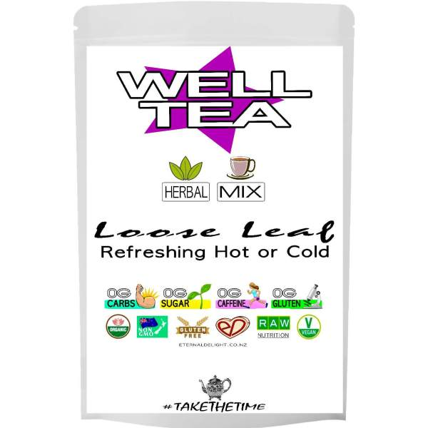 WELL TEA. ORGANIC MIX. ETERNALDELIGHT.CO.NZ