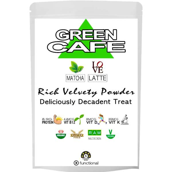 GREEN CAFE LATTE POWDER. ORGANIC. ETERNALDELIGHT.CO.NZ