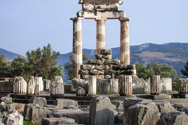 Ancient Delphi archaeological site Peloponnese Eric CB Cauchi Eternal Greece