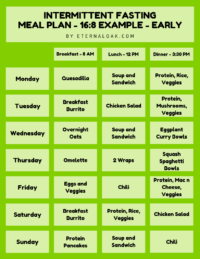 The Top Intermittent Fasting Meal Plan PDFs for 16/8, 20/4