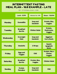 The Top Intermittent Fasting Meal Plan PDFs for 16/8, 20/4 ...