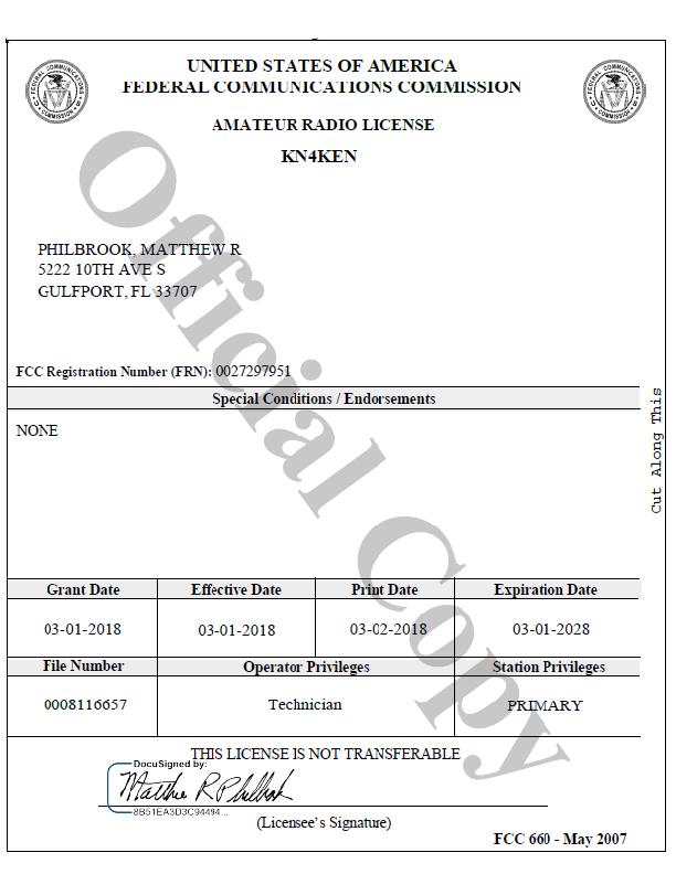 Amateur radio license