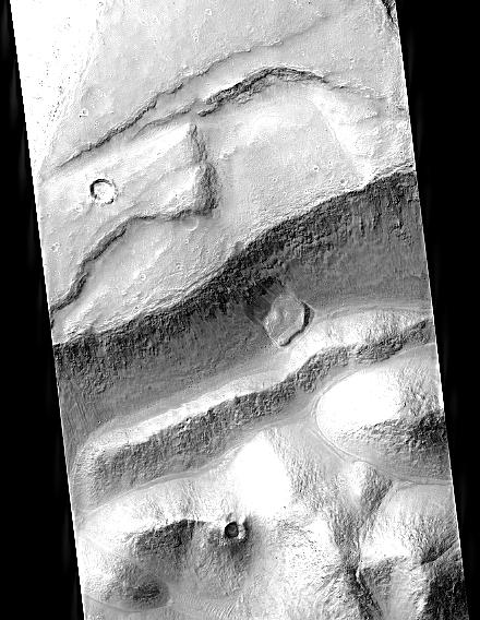 Marte: Aram Chaos (crédito: HiRISE)