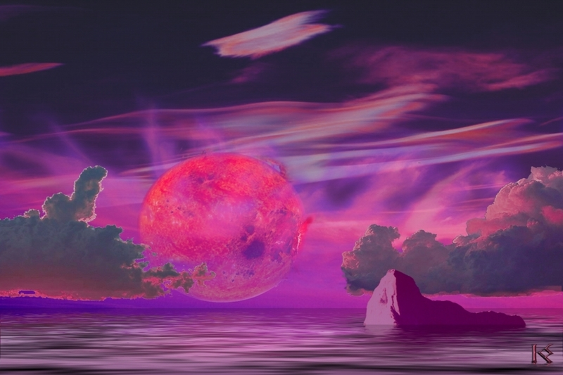 Planeta oceânico orbitando Gliese 581 - Crédito©: Karen Wehrstein