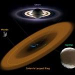 Spitzer descobre um anel gigantesco em Saturno, o anel senhor de todos os anéis!