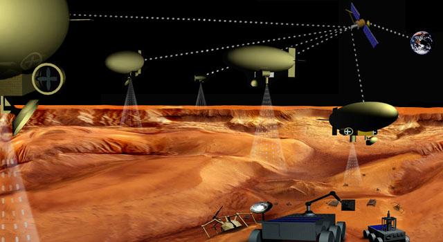 Armada de robôs exploradores inteligentes invade Titã, lua de Saturno. Crédito: NASA/JPL/Caltech