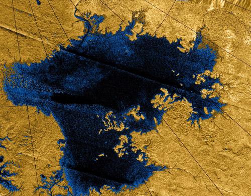 Oceanos de hidrocarbonetos em Titã, lua de Saturno