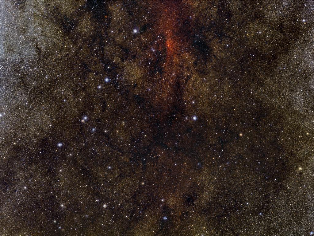 Um milhão de estrelas no coração da Via Láctea