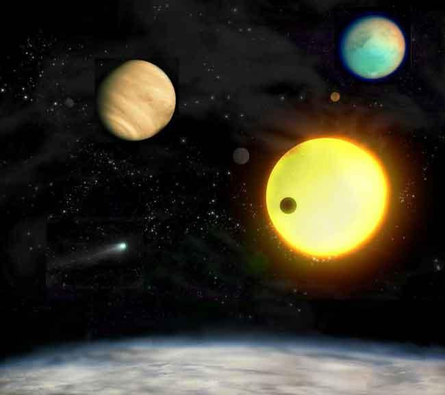 Astrônomos tem encontrado centenas de exoplanetas de tamanhos diversos orbitando outras estrelas em nossa galáxia. Crédito: German Aerospace Center (DLR).