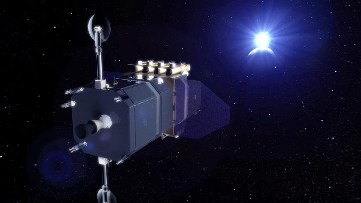 lustração da sonda Solar Dynamcs Observatory. Crédito: NASA/Laboratório de Imagens do Centro Aeroespacial Goddard
