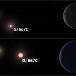 GJ 667 Cc: uma super-terra reside na zona habitável de um sistema com três estrelas