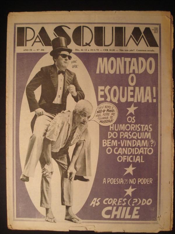 """Capa do jornal O Pasquim #446 de 1978 """"Montando O Esquema"""""""