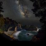 Rogelio Bernal Andreo mostra a Via Láctea em Big Sur, Califórnia
