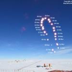 Adrianos Golemis registra um Analema na Antártica