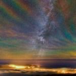 Faixas coloridas de luminescência atmosférica capturadas nos Açores por Miguel Claro