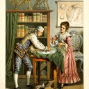 https://en.wikipedia.org/wiki/Caroline_Herschel#/media/File:Sir_William_Herschel_and_Caroline_Herschel._Wellcome_V0002731.jpg