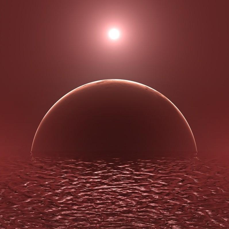 Mundos oceânicos são abundantes? A maioria dos exoplanetas habitáveis teria pouca terra seca na superfície?