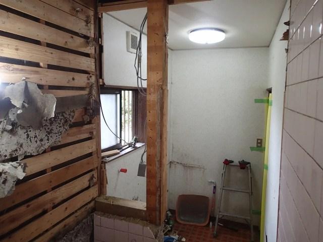 浴室リフォーム 解体
