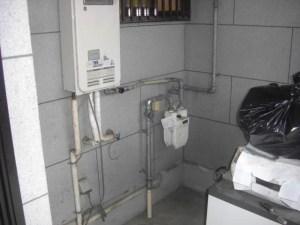 ガス給湯器からエコキュートへ 工事前