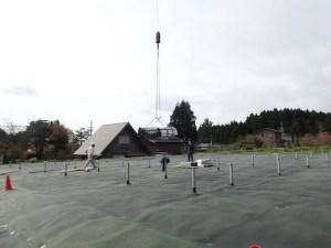 太陽光架台 クレーン